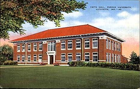 smith hall purdue university lafayette indiana original vintage postcard