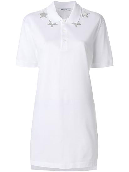 Givenchy Women s Bw700j302s100 White Cotton Polo Shirt  Amazon.co.uk   Clothing c680212cd