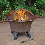 Landmann USA Bella Firebowl Embossed Speckled Patio Fire Pit, Bronze