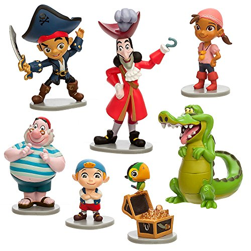 Disney Captain Jake and the Never Land Pirates Figure Play Set (Pirate Figurine Set)