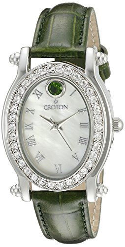 CROTON Women's CN207537GRMP Balliamo May Birthstone Analog Display Quartz Green Watch Croton Womens Quartz Stone