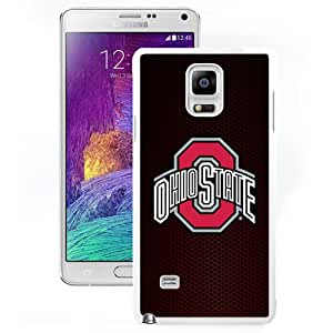 Beautiful And Popular Designed With Ncaa Big Ten Conference Football Ohio State Buckeyes 1 Protective Cell Phone Hardshell Cover Case For Samsung Galaxy Note 4 N910A N910T N910P N910V N910R4 White