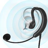 Fone de ouvido com gancho com fio, fone de ouvido de mesa para notebook USB suporta Mudo de uma tecla para Skype/QQ/MSN…
