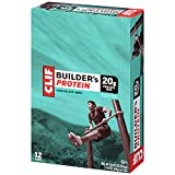Clif Builders Bar, 2.4 oz Bars, Chocolate Mint 12 bars (Pack of 12)