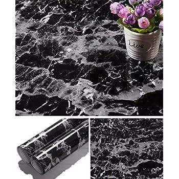 Yancorp Black Marble Contact Paper Granite Wallpaper Self