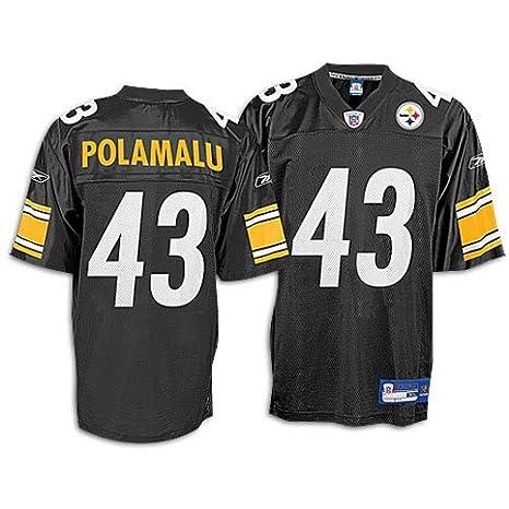Amazon.com   Reebok Pittsburgh Steelers Troy Polamalu Replica Jersey Extra  Large   Sports Fan Jerseys   Sports   Outdoors 40136a726