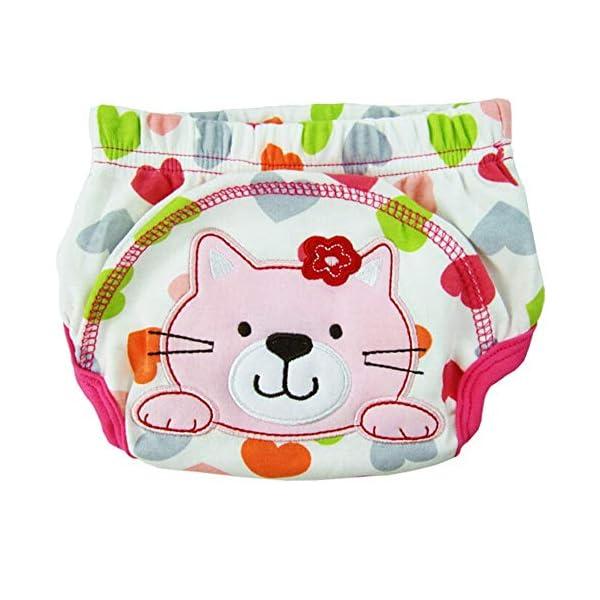 CuteOn 7 pacchetto di Formazione del Bambino del Bambino dei Ragazzi delle Ragazze di Cotone Potty Pantaloni… 5
