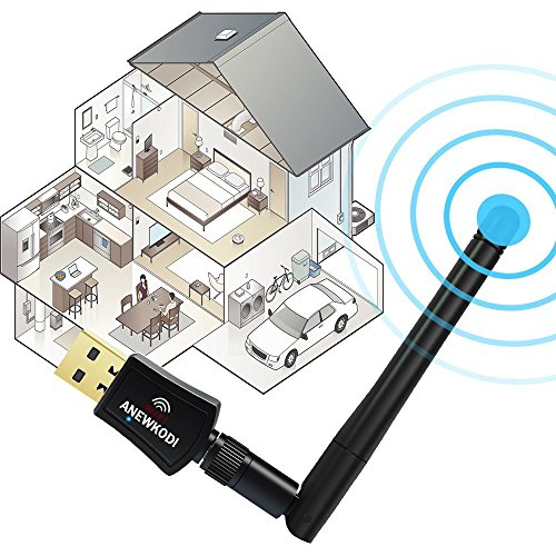 Large Product Image of ANEWKODI 600Mbps Dual Band (2.4G/150Mbps+5G/433Mbps) Wireless USB Wifi Adapter,802.11N/G/B Antenna Network Lan Card For Windows XP/Vista/7/8/8.1/10 (32/64bits) MAC OS