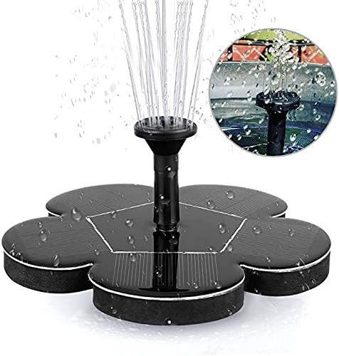 Solar Powered Fountain Pump Round Solar Water Pump Floating Fountain For Bird Tank Fish Tank Pond Or Garden Decoration