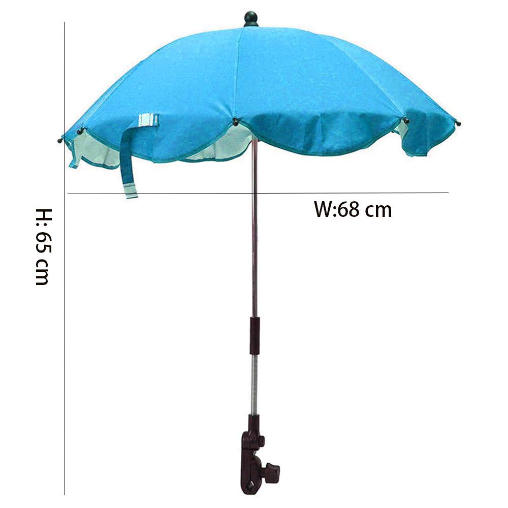 Parasol Umbrella for Baby, Sunshade and Sleep Aid for Pushchairs, Universal Fit and Blocks Up to of UV, Multi-Color Optional,Blue by ACOMG (Image #5)