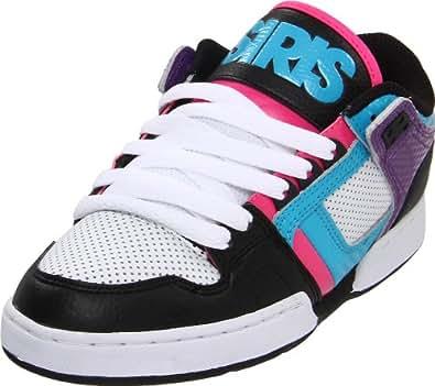 Osiris Girl's NYC 83 Low Skate Shoe,Black/Cyan/Purple,10 M US