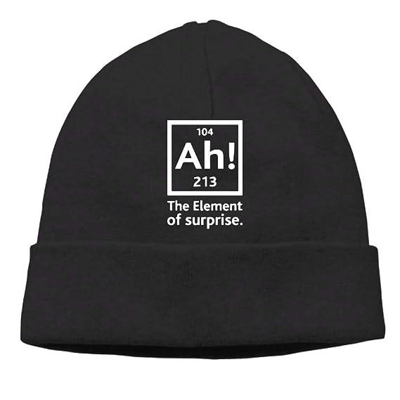 Men Ah The Element of Surprise Warm Street Dance Black Beanies Caps: Amazon.es: Ropa y accesorios