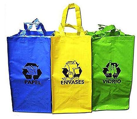 6ef3f72cf Sini Bolsas Reutilizable Reciclaje para Papel,Envases,Vidrio: Amazon.es:  Hogar