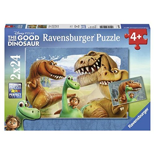 Ravensburger The Good Dinosaur: The Good Dinosaur in a Box 2 x 24 Piece Jigsaw Puzzles for Kids - Every Piece is Unique, Pieces Fit Together Perfectly