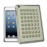 Celicious White Silver Square Studs Hard Case for Apple iPad Mini / iPad Mini 2 (with Retina Display)