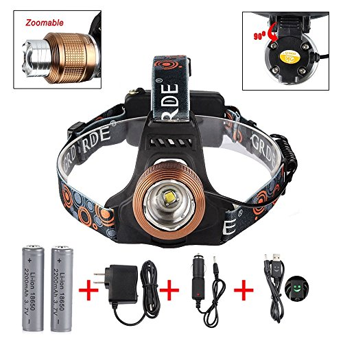 Adjustable Headlight Handsfree Waterproof Flashlight product image