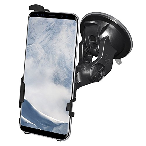 AMZER Slim Suction Cup Vehicle Car Mount Holder for Windshield, Dash, Console Car Mount for Samsung Galaxy S8 Plus - Suction (Amzer Suction Cup)