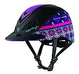 TROXEL Performance Headgear Troxel Fallon Taylor Purple Geo Horse Riding Helmet XS