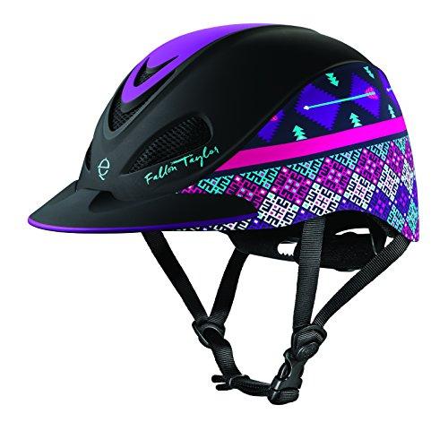 Troxel Fallon Taylor Barrel Racing Helmet M Purpl (Supplies Horse Barrel)