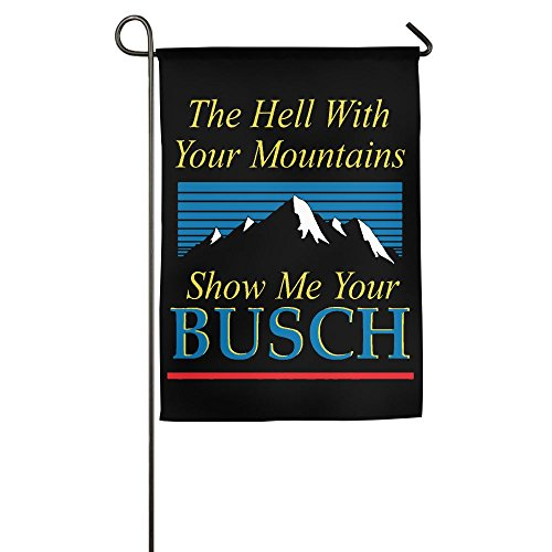 DASHDW The Hell With Your Mountains Flag Garden Flag Family Flag Party Flag 100% Polyester Fiber Vertical Indoor -