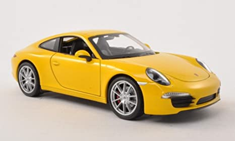 WELLY 1/24 - 24040W PORSCHE 911 991 CARRERA S YELLOW