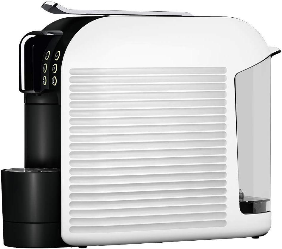 K-fee Wave Kaffeekapselmaschine, 1455 Watt, 1 Liter Wassertank, Farbe High Gloss Black Snow White