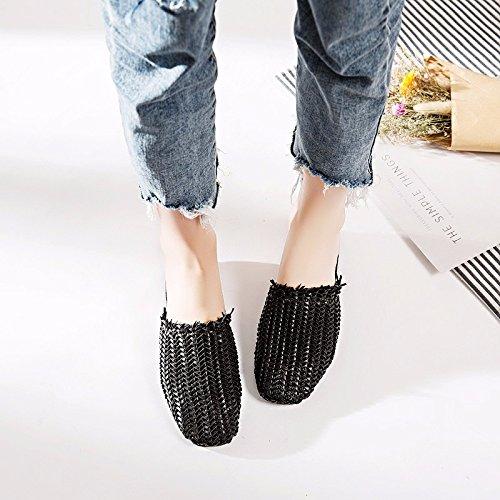 plate chaussures XIAOGEGE Black base avec sandales cool d'été femmes chaussures une nouvelles pantoufles 1gFWgB
