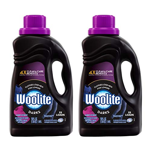 Woolite Dark Care Laundry Detergent, Midnight Breeze Scent, 50 oz/ 33 Loads (Pack of 2) Packaging May Vary