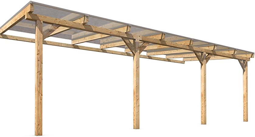 prikker-überdachungen Terraza Techo vordach 700 x 300 cm: Amazon.es: Jardín