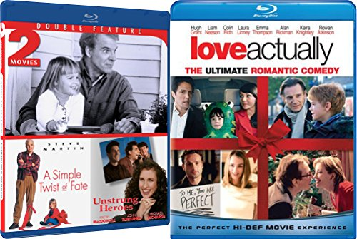 Romantic Comedy 3-Movie Bundle: A Simple Twist of Fate, Unstrung Heroes, & Love Actually