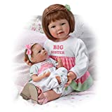 Waltraud Hanl Sister's Love Child And Baby Poseable Vinyl Doll Set by The Ashton-Drake Galleries