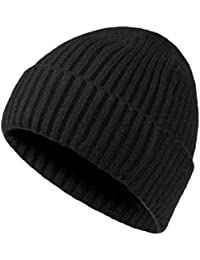 Mens Winter Hats Wool Knit Slouchy Beanie Warm Hat Baggy Skull Cap