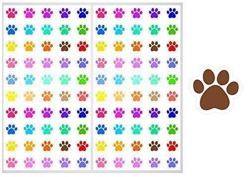 2 SHEET SET Paw Print Planner Stickers ST026