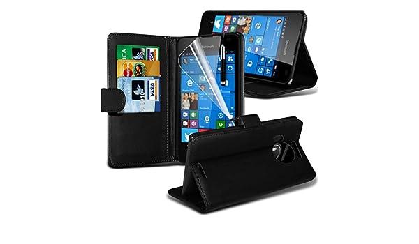 ... de tipo libro con de cuero de primera calidad + Protector de pantalla y carcasa rígida con función atril de microfibra y con para silla de ruedas ...