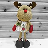 BXT Christmas Ornaments Gifts-Standing Snowman/Santa Claus/Reindeer Stuffed Doll Toys for Indoor/Desk/Tree Decor