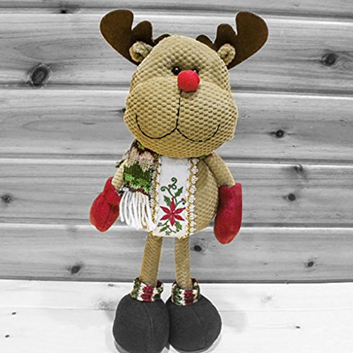 (Christmas Decorations Standing Father Christmas Santa Claus Snowman Figure Plush Toy Doll Christmas Party Tree Hanging Decor Home Indoor Table Fireplace Shelf Sitter Figurine Ornament Decoration)