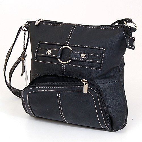Purse Body Genuine Leather Women's Black Cross R8ItFq