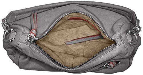 Liebeskind Berlin Damen Santaclara Sporty Schultertasche, 11x23x31 cm Braun (Street Grey)