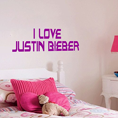 Dailinming PVC Wall Stickers English JUSTIN BIEBER glass green living room bedroom bedroomWallpaper45.7cm x16.5cm-Deep - Bieber Glasses