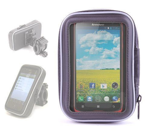 DURAGADGET Water Resistant Mobile Phone Hard Case And Bike Mount For Lenovo S820 & S850 / S 850 Dual