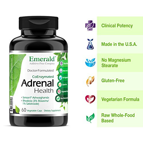 Adrenal Health - with Sensoril Ashwagandha for Improved Energy Levels, Sleep Support, Stress Relief, Promotes Mental Clarity - Emerald Laboratories - 60 Vegetable Capsules by Emerald Laboratories (Image #2)