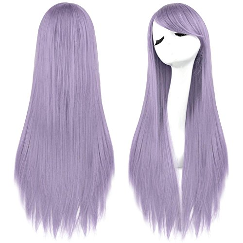 Rbenxia 32'' Women's Cosplay Wig Hair Wig Long Straight Costume Party Full Wigs Light -