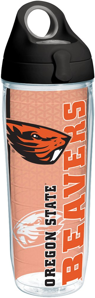 Clear Tervis 1229630 Oregon State Beavers College Pride Tumbler with Wrap and Black Lid 16oz