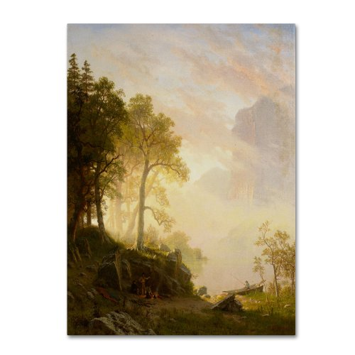 The Merced River in Yosemite Artwork by Albert Bierstadt, 24 by 32-Inch Canvas Wall (Bierstadt Canvas Painting)