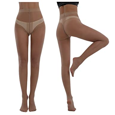 7b228c8e031 Women s Tights Plus Size 3packs 20 Denier Sheer to Waist T Crotch Run  Risistance Nylons (