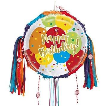 Para pelotas de oro cumpleaños Tire Cadena Piñata: Amazon.es ...