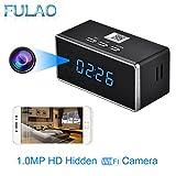 FULAO HD 1080P Wifi Alarm Clock Camera Night Vision/Motion Detection/ Home spy Cameras