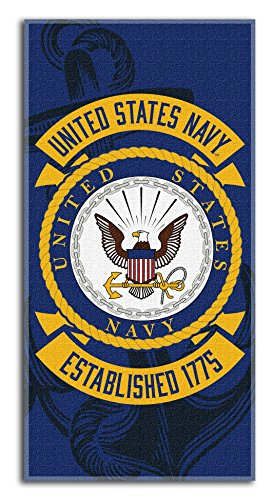 United States Navy Large Beach Towel 30 inch x 60 inch - US Navy - Officially Licensed