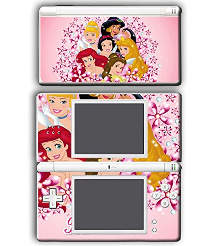 w White Belle Jasmine Cinderlla Pink Flowers Video Game Vinyl Decal Skin Sticker Cover for Nintendo DS Lite System ()