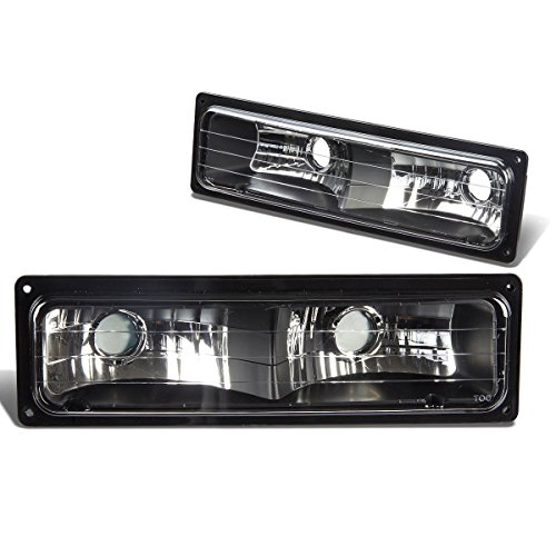 For Chevy/GMC C10 C/K-Series Bumper Light Lamps (Black Housing)